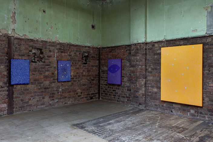 Exhibition view: Julia Chiang, Spit Sweat Shhh, The Modern Institute, Aird's Lane, Glasgow (25 May–20 July 2019). Courtesy the artist and The Modern Institute/Toby Webster Ltd, Glasgow. Photo: Patrick Jameson.