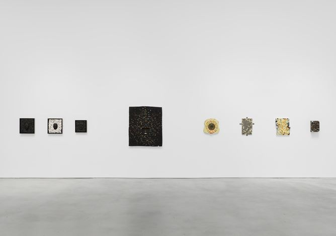 Exhibition view: Jack Whitten, I AM THE OBJECT, Hauser & Wirth, 22nd Street, New York (5 November 2020–23 January 2021). © Jack Whitten Estate. Courtesy the Jack Whitten Estate and Hauser & Wirth. Photo: Thomas Barratt.