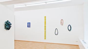 Contemporary art exhibition, Claudia Terstappen, Loops, towers, ribbons, straps at Susan Boutwell Gallery , Munich