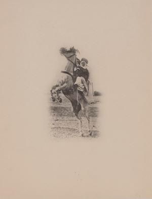 Cavalier et Cheval by Jean Théophile Geiser contemporary artwork