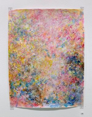 Garden in Spring by Rie Ono contemporary artwork painting, works on paper