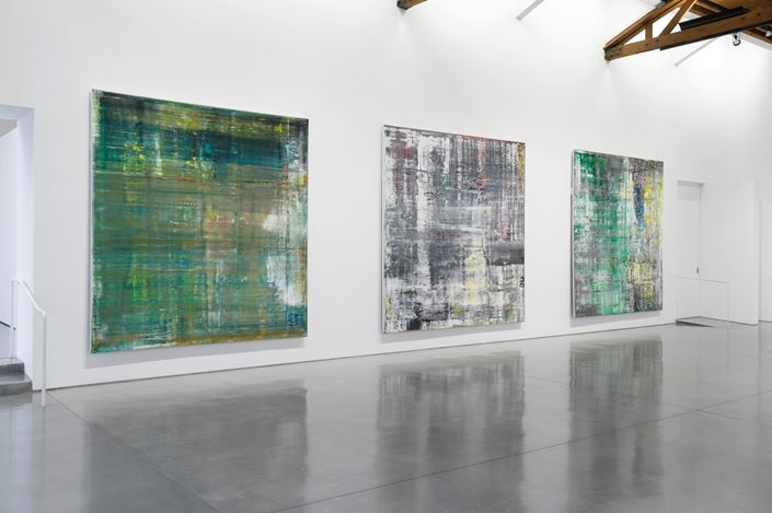 Exhibition view: Gerhard Richter, Cage Paintings, Gagosian, Beverly Hills (3 December 2020–3 April 2021). © Gerhard Richter. Courtesy Gagosian. Photo: Jeff McLane.