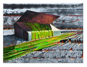 The Main Stand by Derek Cowie contemporary artwork