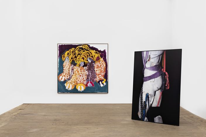 Exhibition view: Group Exhibition, Moshekwa Langa, Viviane Sassen, and Portia Zvavahera Organised by Andrew Kreps Gallery and Stevenson, 55 Walker Street, New York (25 October–21 December 2019). Courtesy the Artists, Andrew Kreps Gallery, New York and Stevenson, Cape Town/Johannesburg. Photo: Dawn Blackman.