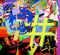 Hashtag by Dongi Lee contemporary artwork painting