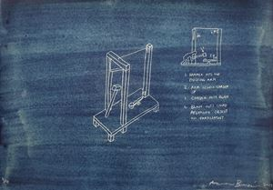 BLUE PRINT - High - Striking - Guillotine by Aaron Bezzina contemporary artwork