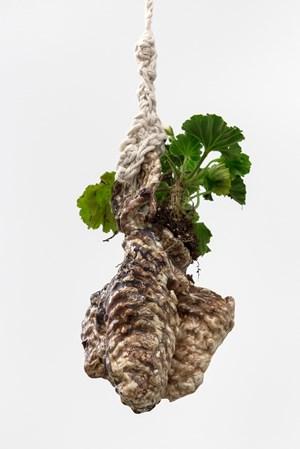 Bud Vase (Brown & White Hanger) by Christian Holstad contemporary artwork