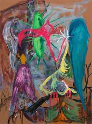 Bird of Bataan 8 by Manuel Ocampo contemporary artwork