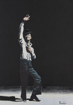 Sammy Davis Jnr. by Sam Nhlengethwa contemporary artwork