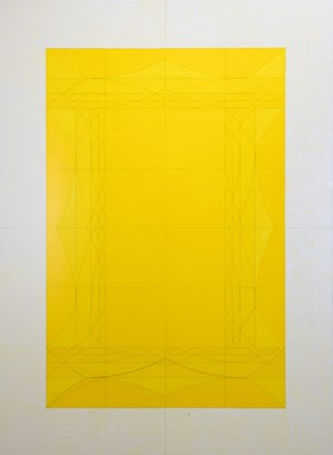 4 Big Bracket Bridges Inward in Yellow by Inga Svala Thórsdóttir & Wu Shanzhuan contemporary artwork
