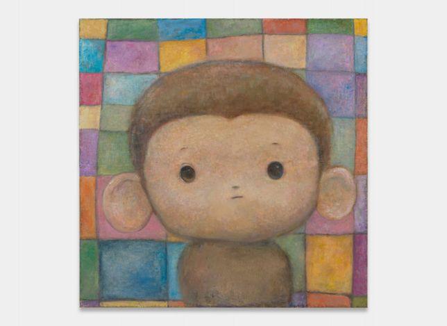 Otani Workshop, Monkey (2021). Oil on fabric mounted on board. 179 x 179 x 7 cm. ©2021 Otani Workshop/Kaikai Kiki Co., Ltd. All Rights Reserved. Courtesy Perrotin.