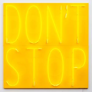 Don't Stop 3 (Yellow/Yellow/Yellow) by Deborah Kass contemporary artwork