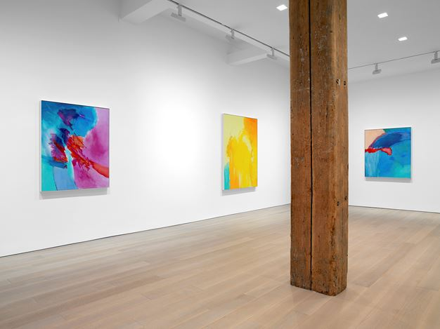 Exhibition view: Emily Mason, Miles McEnery Gallery, 525 West 22nd Street, New York(3 January–2 February 2019). Courtesy Miles McEnery Gallery.