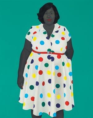 The girl next door by Amy Sherald contemporary artwork