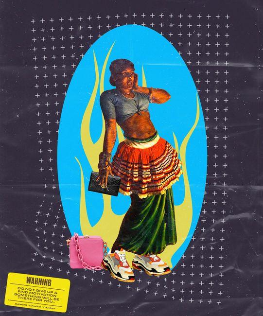 Devil Dancer's Granddaughter යකැදුරු මිනිබිරිය by Muvindu Binoy contemporary artwork