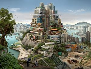 Babel Hong Kong by Emily Allchurch contemporary artwork