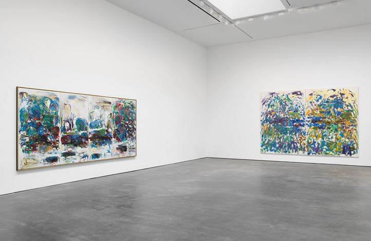 Exhibition view: Joan Mitchell, I carry my landscapes around with me, David Zwirner, 20th Street, New York (3 May–12 July 2019). Courtesy David Zwirner.