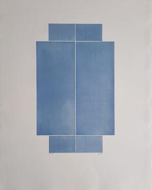 """Porte marine"" by Geneviève Asse contemporary artwork"