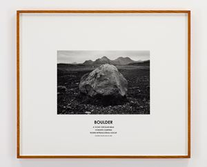 Boulder, Iceland, 2008 by Hamish Fulton contemporary artwork