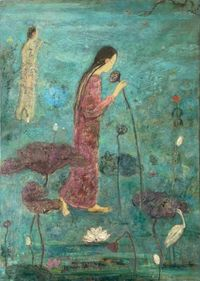 L'Etang Clair by Juanli Jia contemporary artwork painting
