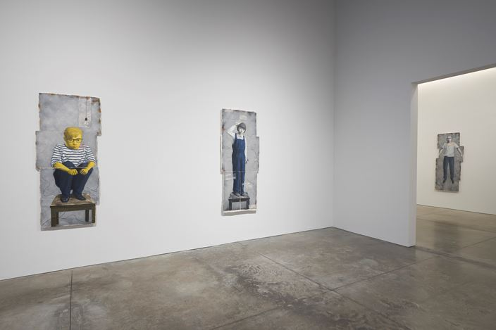 Exhibition view: Zhang Xiaogang, Recent Works, Pace Gallery, 537 West 24th Street, New York (7 September–20 October 2018). © Zhang Xiaogang. Courtesy Pace Gallery. Photo: Guy Ben-Ari.