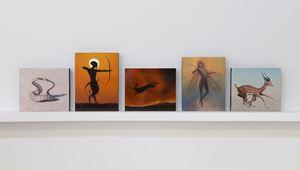 Uroboros, The Satyr, The Lunar Hare, A Fairy, An Antelope with Six Legs by Juan Ford contemporary artwork