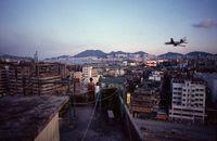 'Rooftop and Plane', Hong Kong by Greg Girard contemporary artwork photography, print