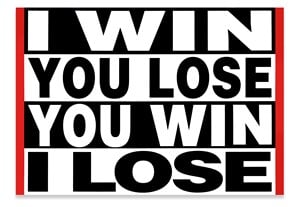 Untitled (I WIN YOU LOSE) by Barbara Kruger contemporary artwork