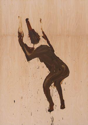 Shit Mom (Wood Worship) by Tala Madani contemporary artwork