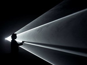 Meeting You Halfway by Anthony McCall contemporary artwork