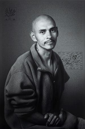 Alfonso Garundo, from Land of Dreams series by Shirin Neshat contemporary artwork