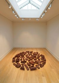 Red Slate Circle by Richard Long contemporary artwork sculpture