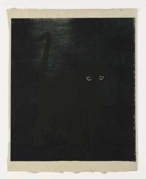 Black Cat by Mamma Andersson contemporary artwork