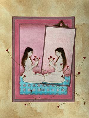 Self Reflection by Hiba Schahbaz contemporary artwork