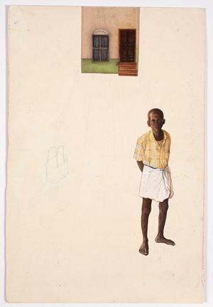 A long Wait by Desmond Lazaro contemporary artwork