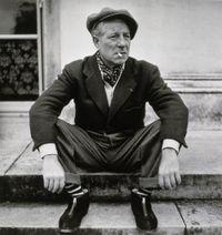 Jean Gabin sur le perron de sa maison by Walter Carone contemporary artwork photography