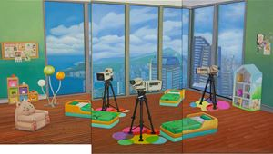 Home Sweet Home: 1,2,3,4 Cheese by Mak Ying Tung 2 contemporary artwork