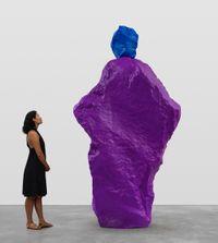 blue violet nun by Ugo Rondinone contemporary artwork sculpture