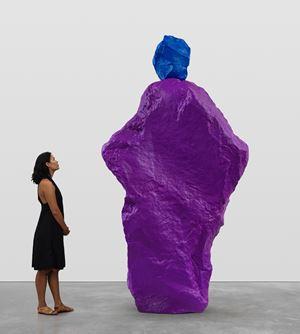 blue violet nun by Ugo Rondinone contemporary artwork