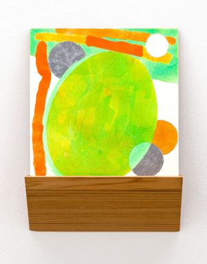 Lime Drop by Denys Watkins contemporary artwork painting, works on paper, sculpture