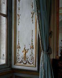 Boiserie and curtain, Cabinet de la Meridienne, CCE.02.027, Corps Central - 1er etage du Chateau de Versailles, France by Robert Polidori contemporary artwork photography