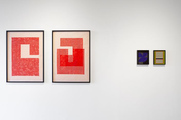 Exhibition view: Lubna Chowdhary, Code Switch, Jhaveri Contemporary, Mumbai (14 January–27 February 2021). Courtesy Jhaveri Contemporary. Photo: Mohammed Chiba.