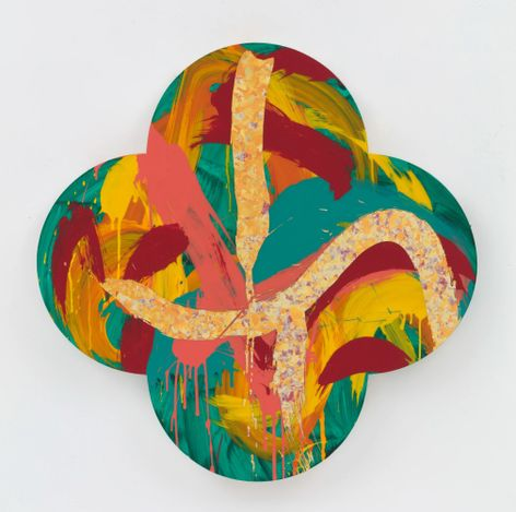 Max Gimblett, The Garden - After Vincent Van Gogh (2019). Courtesy PAGE Galleries.