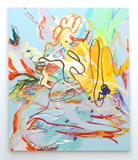 Pale Kings Blue by Wang Xiyao contemporary artwork painting, drawing
