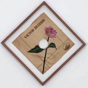 SP Record Embroidery #1 by Satoru Aoyama contemporary artwork