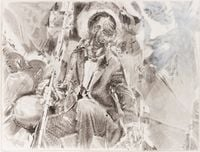 Study from Just Married Machine by Pietro Roccasalva contemporary artwork painting, works on paper