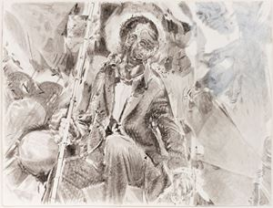 Study from Just Married Machine by Pietro Roccasalva contemporary artwork