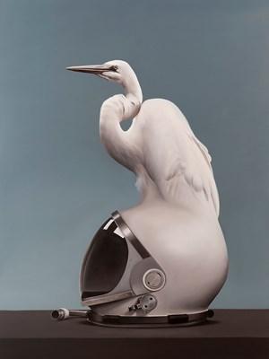 Mercury Egret by Sam Leach contemporary artwork
