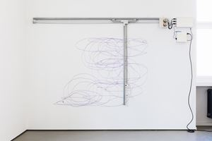 Dynamic Stereo Drawing Machine by Angela Bulloch contemporary artwork