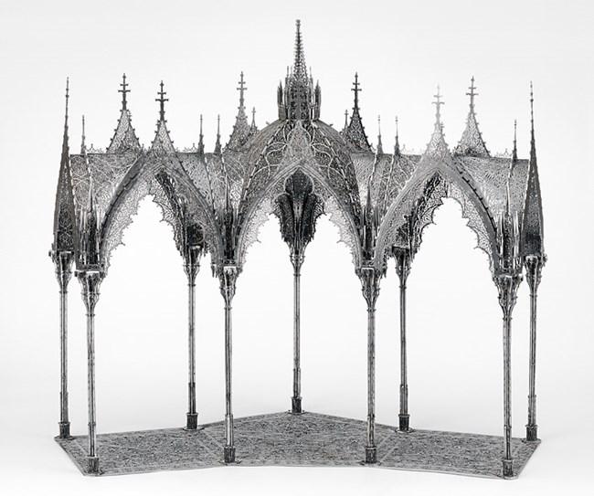 Pergola (scale model 1:10) by Wim Delvoye contemporary artwork